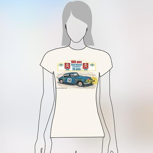 Tee Shirt Femme - 100 ans Citroën / 10 ans Bob Neyret