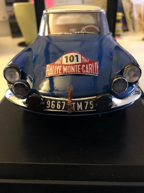 """DS 21 1967 - """"Bob Neyret"""" -1/18e NOREV - Rallye Monte Carlo"""