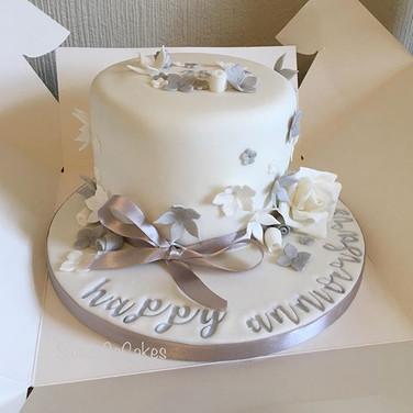 25th anniversary cake xx #silverannivers