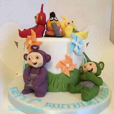 1st birthday teletubbies themed cake xx