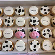 Cow themed Vanilla cupcakes for Overgate