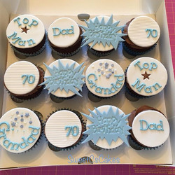 Birthday cupcakes xx #70thbirthday #cupc