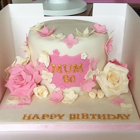60th birthday cake xx #60thbirthdaycake
