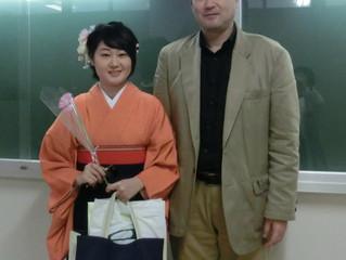 長女の大学卒業式