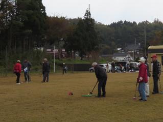 グラウンド・ゴルフ大会 明日は市長選告示