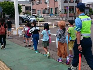 小学生の通学路点検