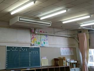 中学校の避難訓練