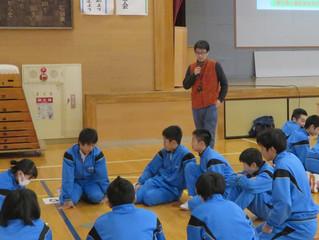 中学校避難訓練