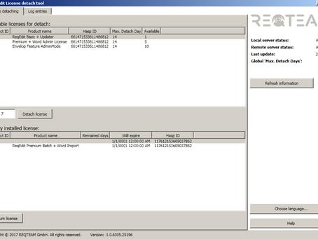 ReqEdit License Detach Add-On