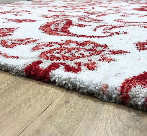 Angola Damask White Red 160x230cm