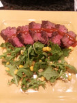 Pan Seared Sirloin w/ Bourbon Reduction