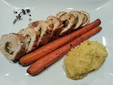 Chicken Roulade with Roasted Carrots & Garlic Confit Polenta