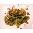 Kale/Basil Pierogi w/ Cauliflower Pesto