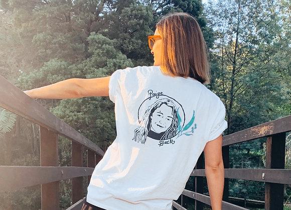 Paige Black Gum Leaf T Shirt (Unisex)