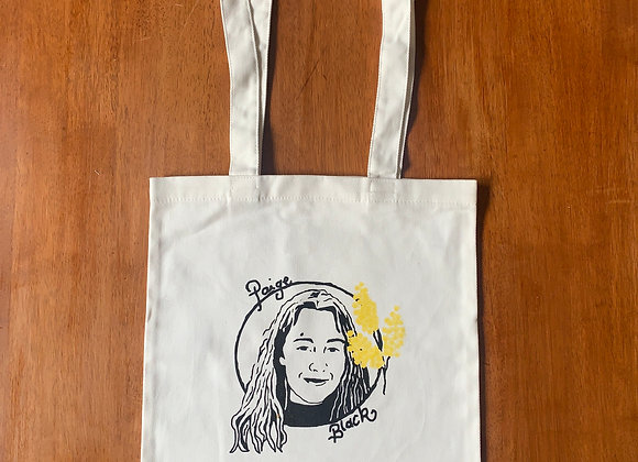 Paige Black Tote Bags