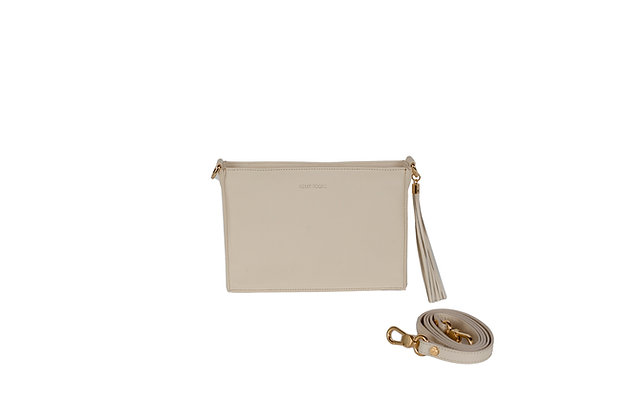 CROSSBODY CLUTCH (CREAM)