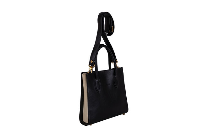 GAYLE SATCHEL (BLACK CREAM)