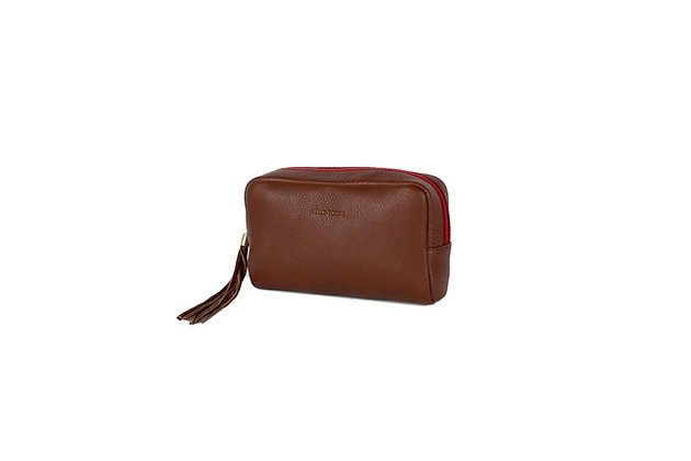 COSMETIC BAG (COGNAC)