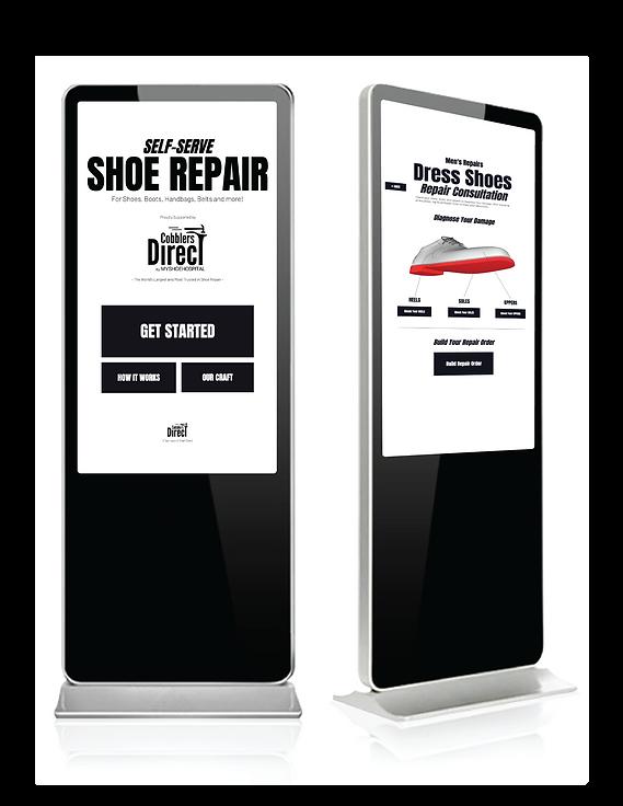 shoe repair kiosks