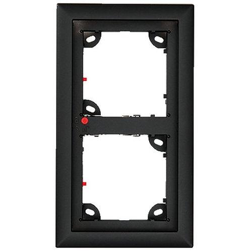 2er Rahmen, schwarz