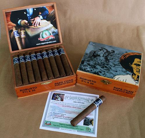 Caja en Cedro de 25 Cigarros Robustos PC