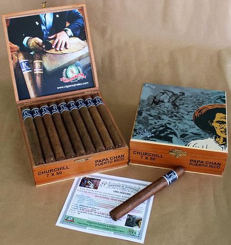 Caja en Cedro de 25 Cigarros Churchill PC