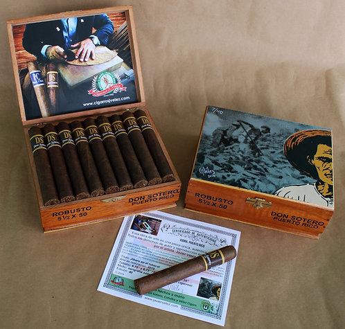 Caja en Cedro de 25 Cigarros Robustos DS