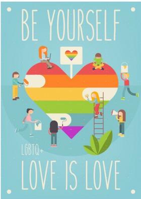 Sois toi-même. L'amour c'est l'amour. LGBTQ+