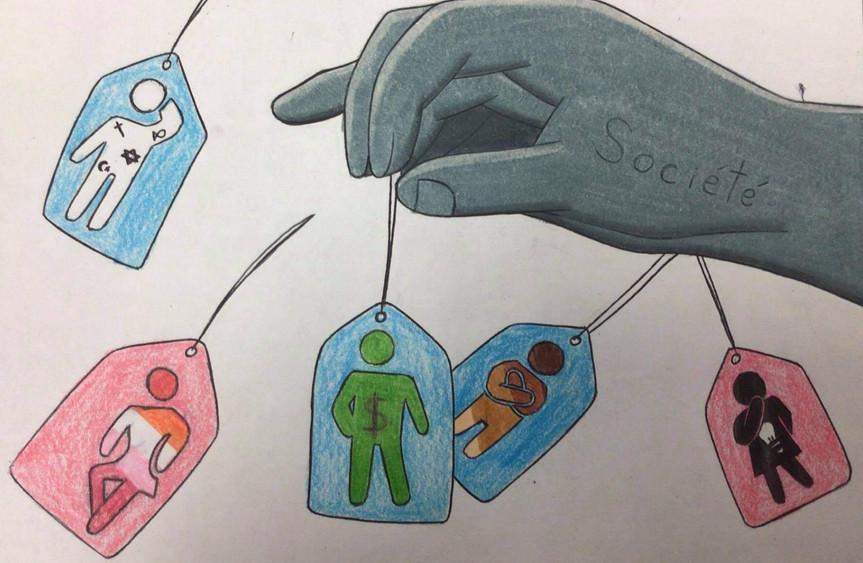 Caricature dénonçant les inégalités - par Alyssa Angélique Michaud
