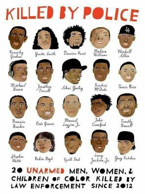Tués par la police. 20 hommes et femmes non-armés ont été tué par les forces de l'ordre aux États-Unis depuis 2012.