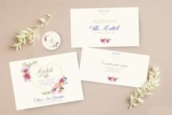 cuore fiorato invito nozze