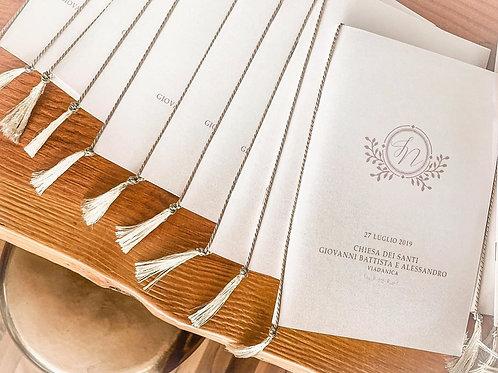 Libretto della Messa concordino e nappina fatta a mano
