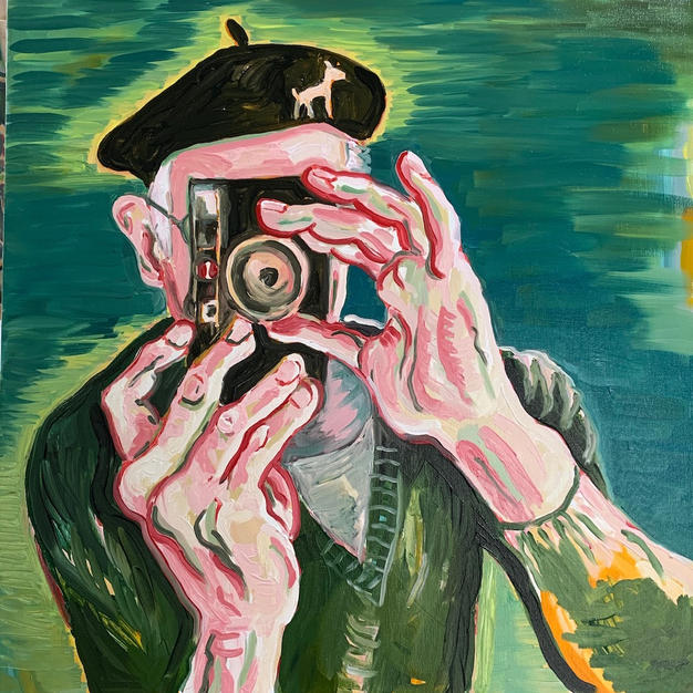 Portrait of Alen with a Camera
