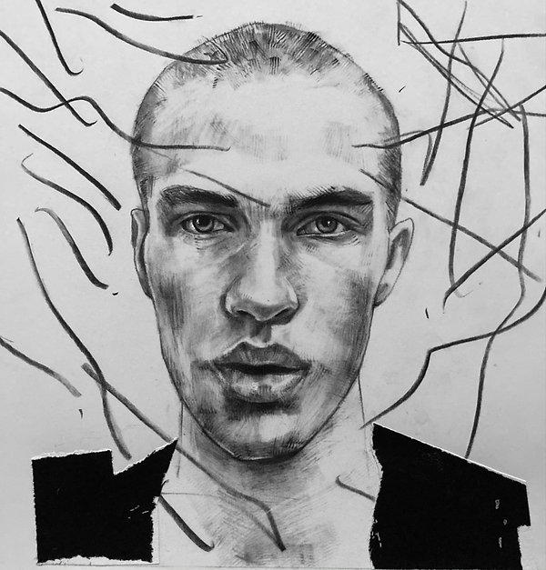 Santaniello Carmine Portrait 3 Charcoal