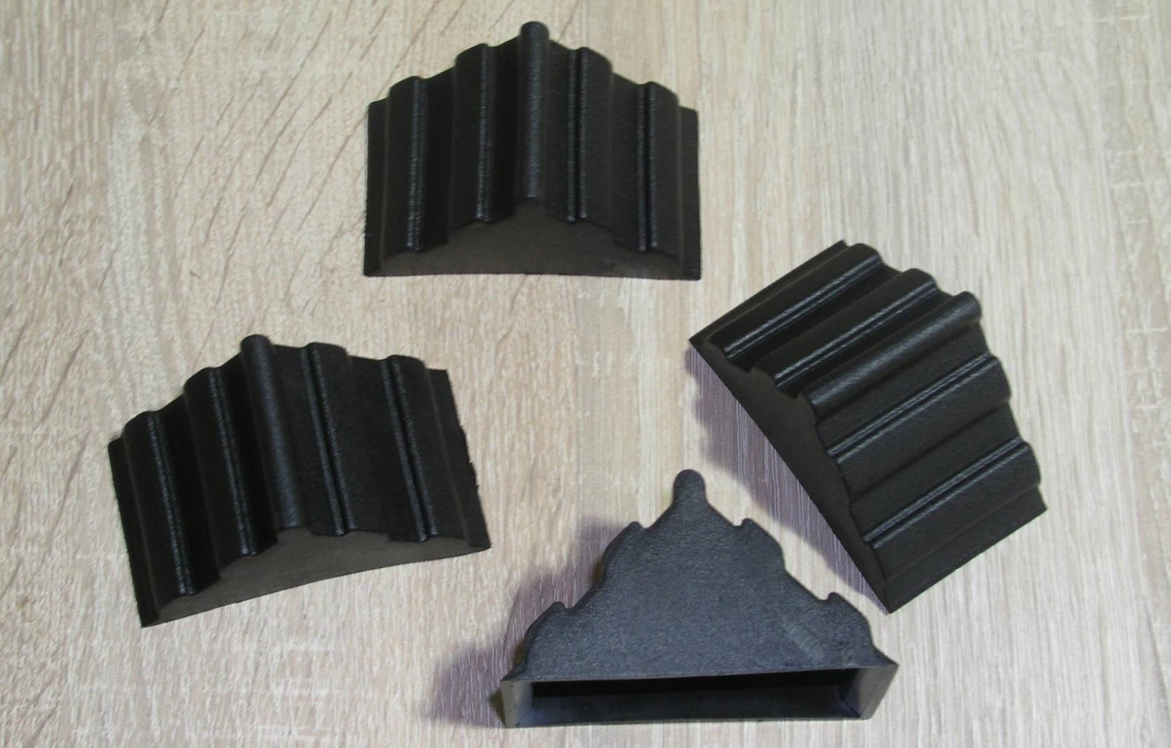 Πλαστικές γωνίες για πάγκους κουζίνας 38mm