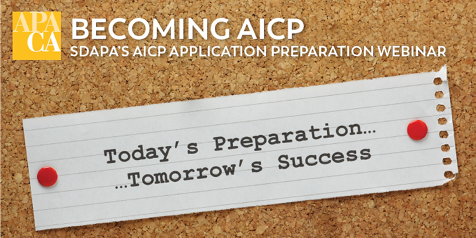 Becoming AICP - Prep Webinar