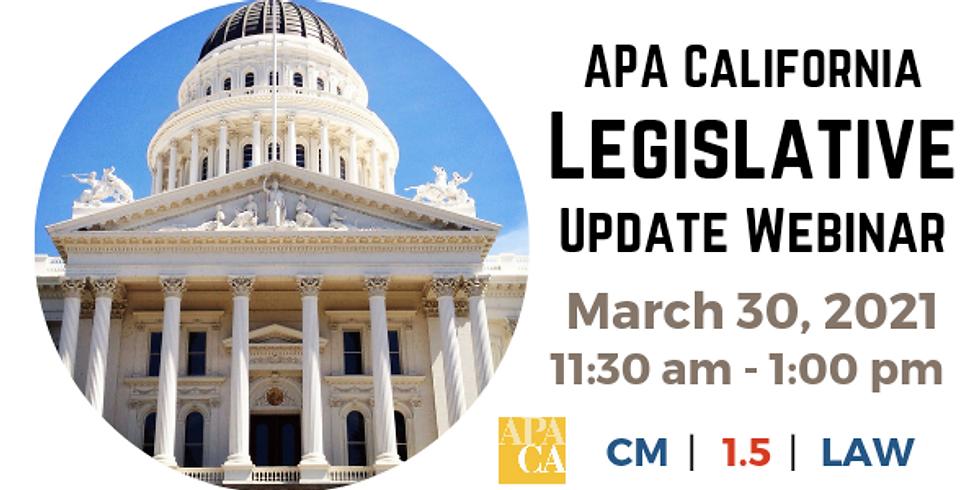 APA CA Legislative Update Webinar