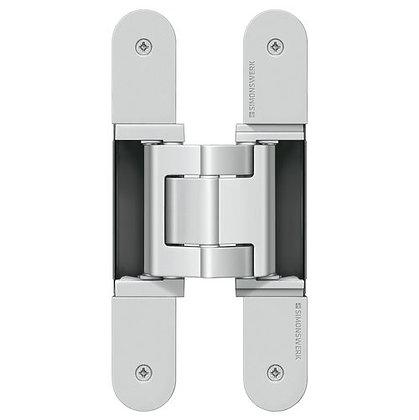 Bisagra Invisible TE 540 3D A8 Carga 100 kg, para puertas con revestimientos.