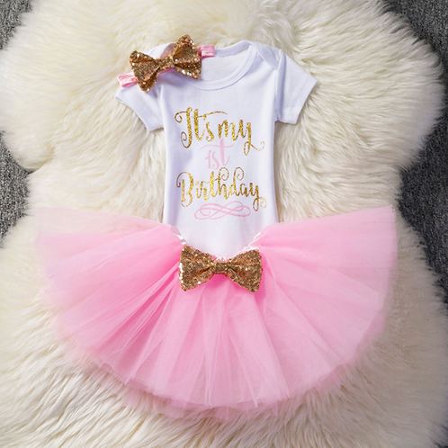 Girls Cake Smash Party Outfit