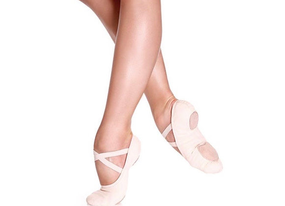 Canvas Split-Sole Ballet Shoes