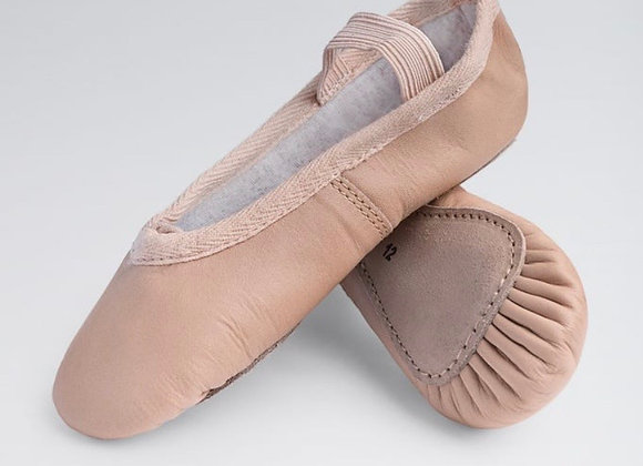 Leather Full-Sole Ballet Shoes