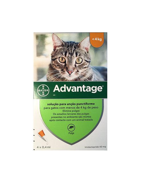 Advantage - gatos com menos de 4 Kg