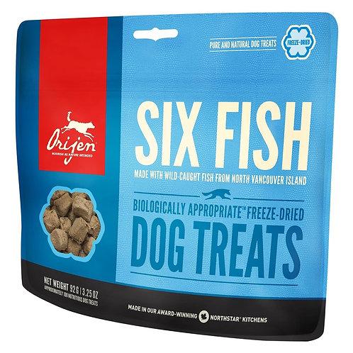 Orijen Six Fish - Snacks crus liofilizados para cão