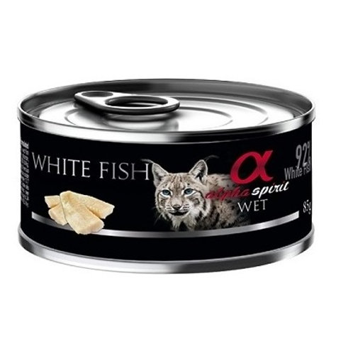 Alpha Spirit - Comida Húmida para Gato - Peixe branco