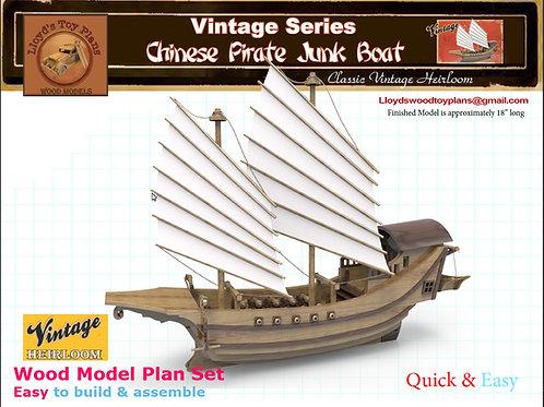 Chinese Pirate Junk Boat