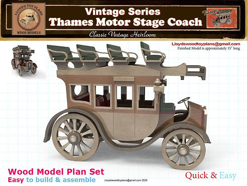 Thames 48-HP Motor Stage Coach 1913