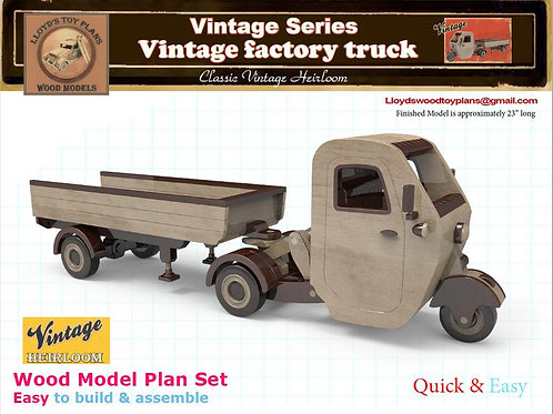 Vintage factory truck