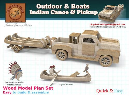 Indian Canoe & Pickup