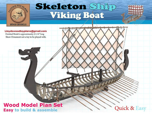 Skeleton Viking Ship