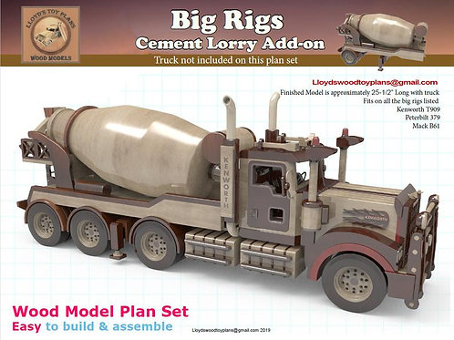 Cement Lorry add-on for the Big rigs